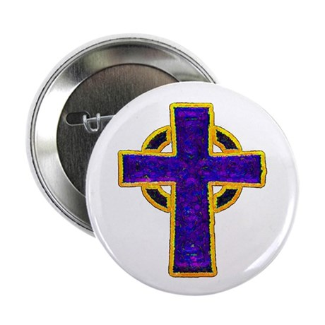 "Celtic Cross 2.25"" Button (100 pack)"