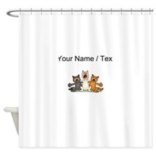 Custom Cat Choir Shower Curtain