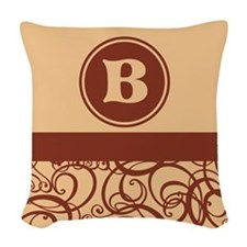 Brown Personalized Monogram Initial Woven Throw Pi