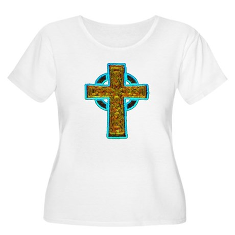Celtic Cross Women's Plus Size Scoop Neck T-Shirt