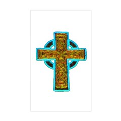 Celtic Cross Rectangle Sticker