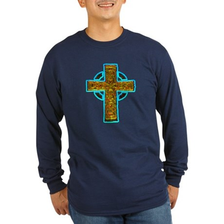 Celtic Cross Long Sleeve Dark T-Shirt