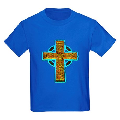 Celtic Cross Kids Dark T-Shirt