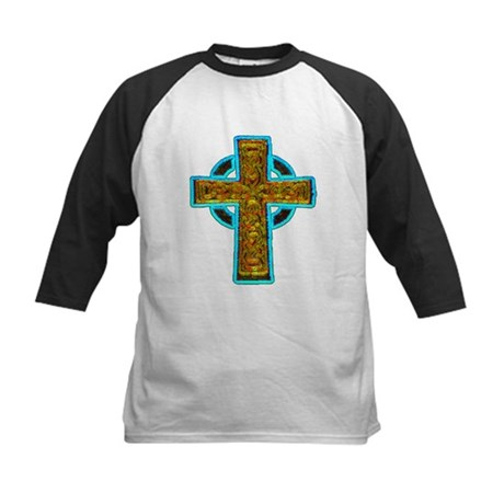 Celtic Cross Kids Baseball Jersey