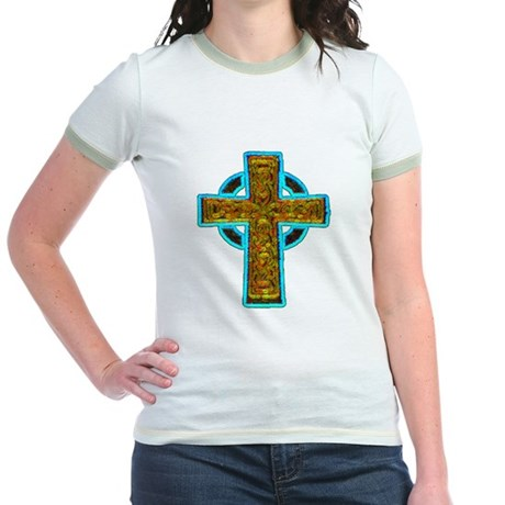 Celtic Cross Jr. Ringer T-Shirt