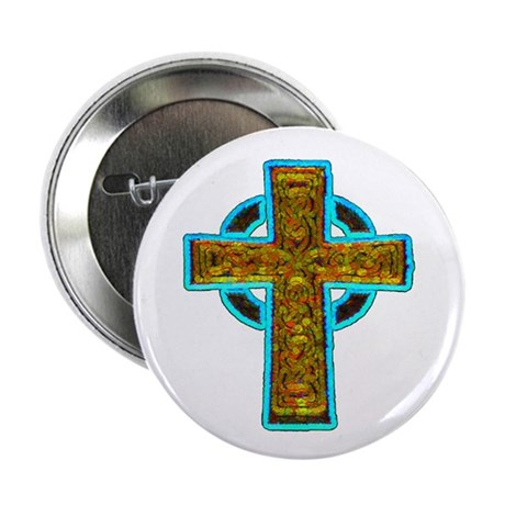 Celtic Cross 2.25&quot; Button (100 pack)