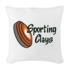 SPORTING CLAYS Woven Throw Pillow