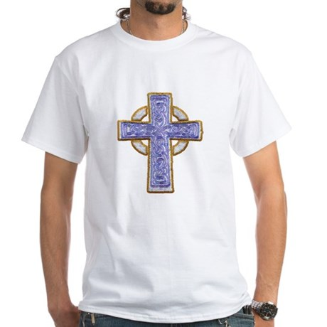 Celtic Cross White T-Shirt