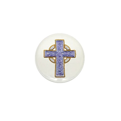 Celtic Cross Mini Button