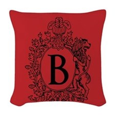 Red Personalized Monogram Initial Woven Throw Pill