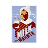 MILK WOMAN fridge magnet