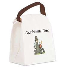Custom Cat With Canned Food Canvas Lunch Bag
