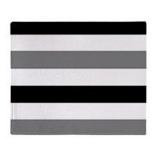black gray stripes Throw Blanket