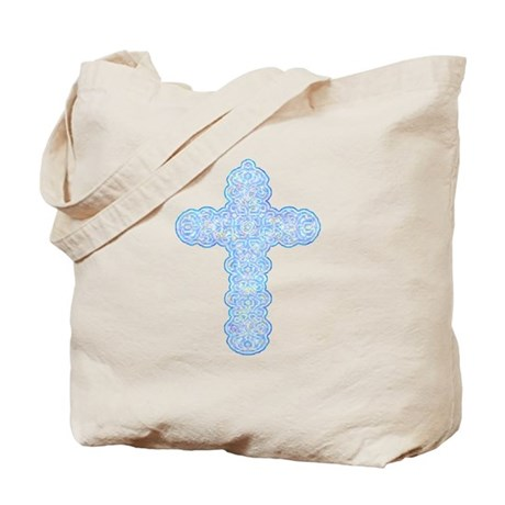 Pastel Cross Tote Bag