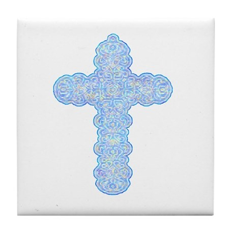 Pastel Cross Tile Coaster