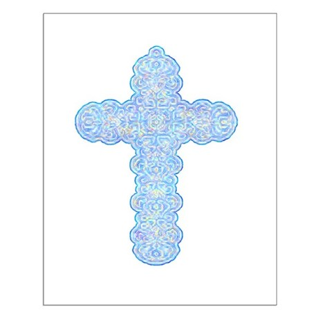 Pastel Cross Small Poster