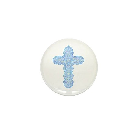 Pastel Cross Mini Button