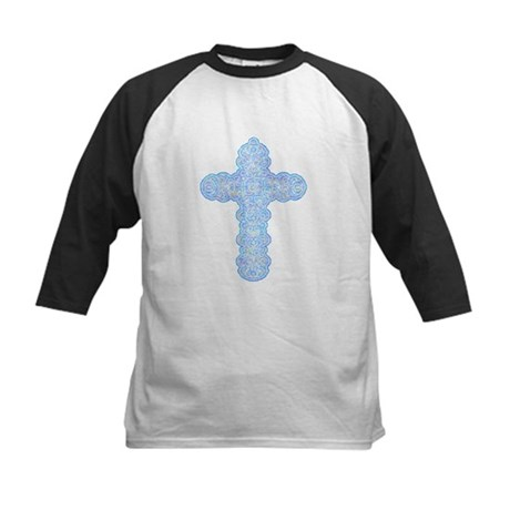 Pastel Cross Kids Baseball Jersey