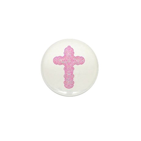 Pastel Cross Mini Button (100 pack)