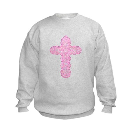 Pastel Cross Kids Sweatshirt