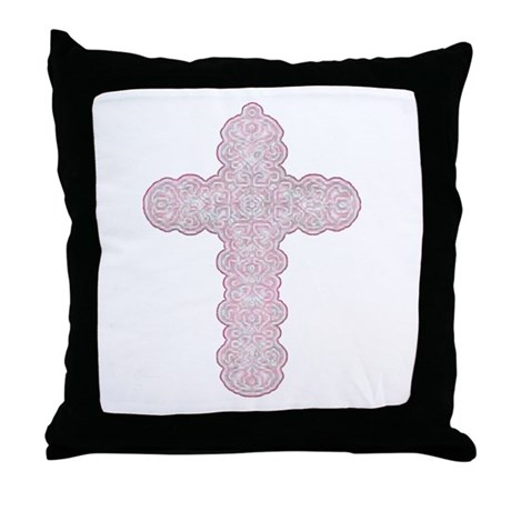 Pastel Cross Throw Pillow