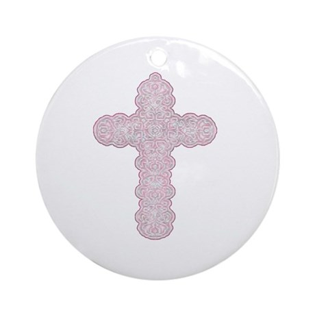 Pastel Cross Ornament (Round)