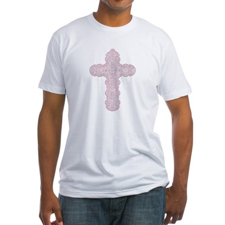 Pastel Cross Fitted T-Shirt