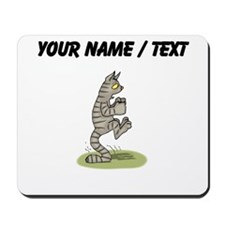 Custom Cat Standing On Tail Mousepad