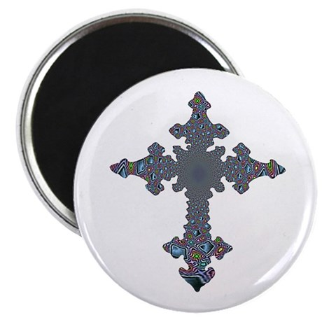 Jewel Cross 2.25&quot; Magnet (10 pack)