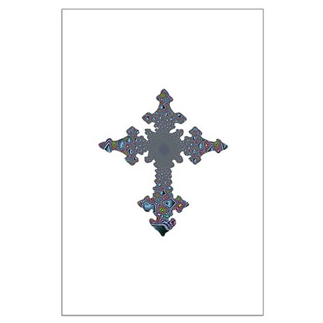 Jewel Cross Large Poster