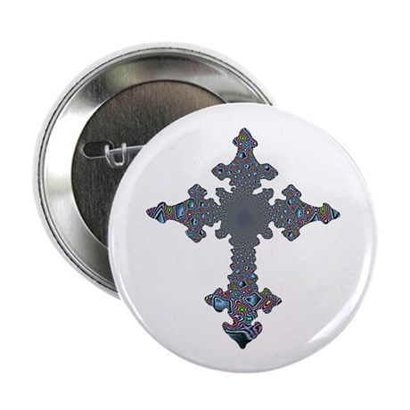 Jewel Cross 2.25&quot; Button (100 pack)
