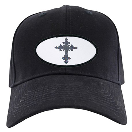 Jewel Cross Black Cap