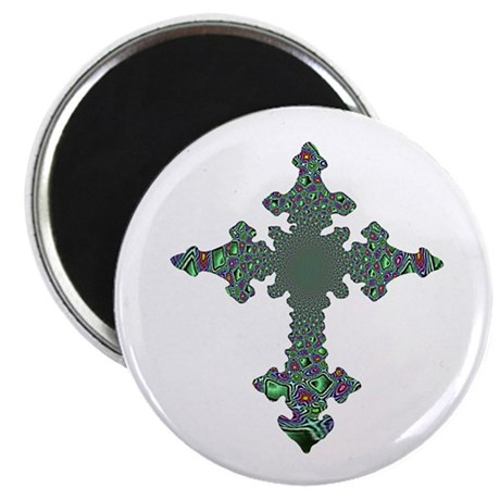 "Jewel Cross 2.25"" Magnet (100 pack)"