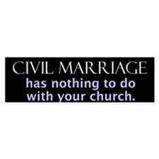 Civil marriage (Bumper Sticker)