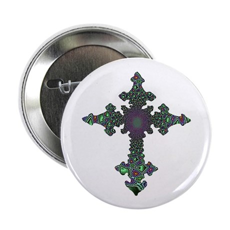 Jewel Cross 2.25&quot; Button (10 pack)