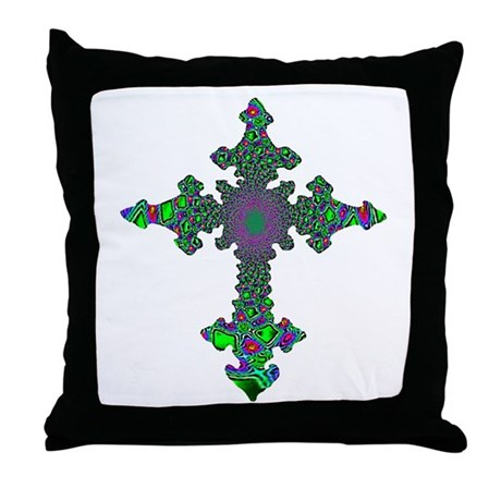 Jewel Cross Throw Pillow