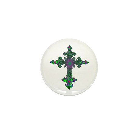 Jewel Cross Mini Button