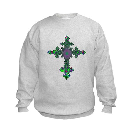 Jewel Cross Kids Sweatshirt