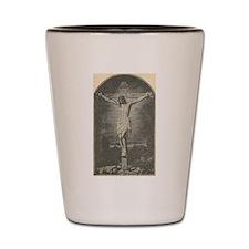 crucifixion Shot Glass
