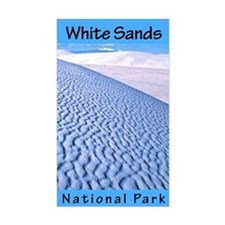 White Sands NP (Vertical) Rectangle Decal