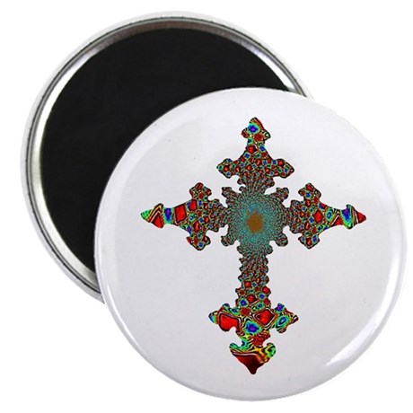 "Jewel Cross 2.25"" Magnet (10 pack)"