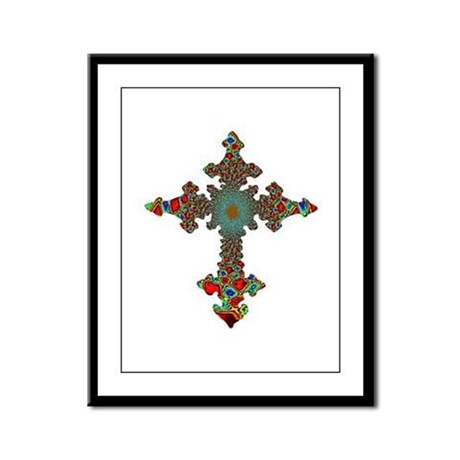 Jewel Cross Framed Panel Print