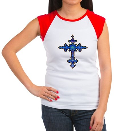 Jewel Cross Women's Cap Sleeve T-Shirt