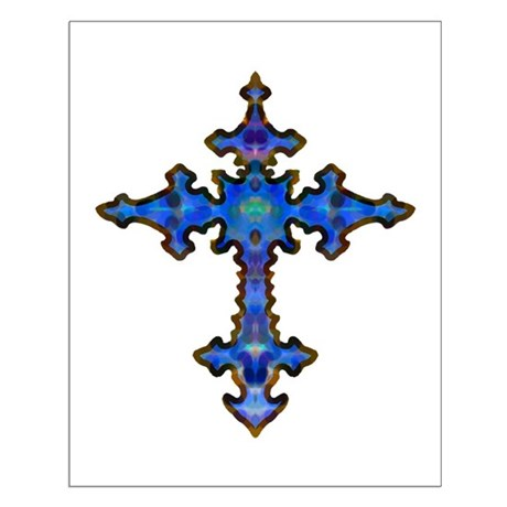 Jewel Cross Small Poster
