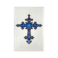 Jewel Cross Rectangle Magnet (100 pack)