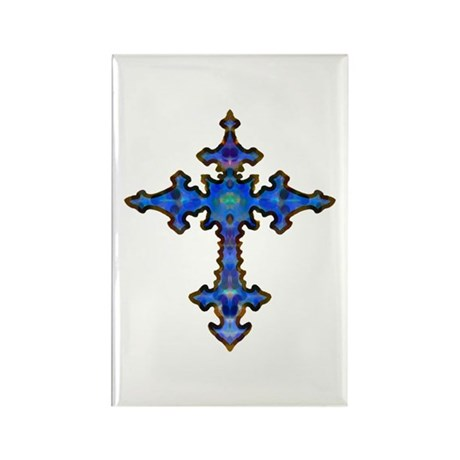 Jewel Cross Rectangle Magnet