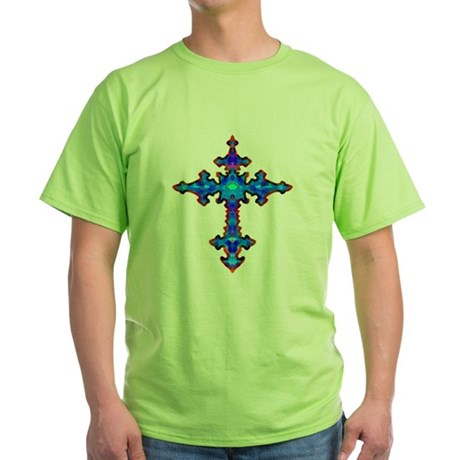 Jewel Cross Green T-Shirt