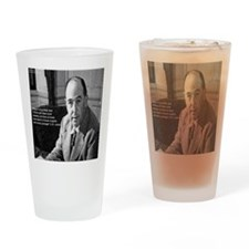 CS Lewis & Bravery Quote Drinking Glass