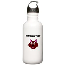 Custom Cat Face Water Bottle