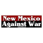 New Mexico Anti-war Bumper Sticker